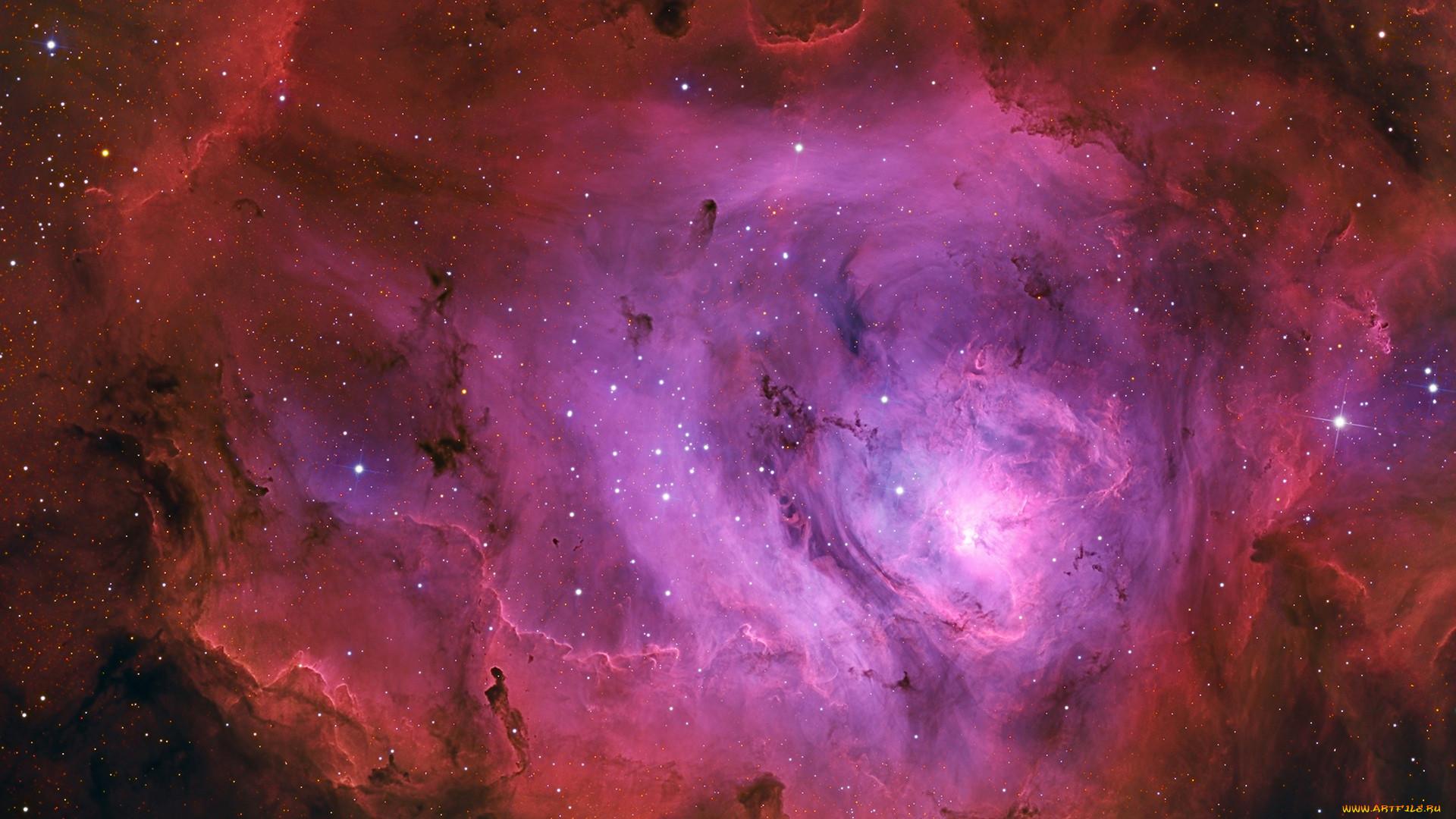 космос, галактики, туманности, туманность, лагуна